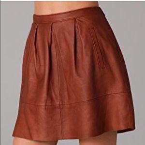 Madewell leather belltoll skirt
